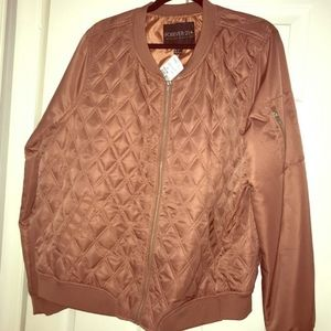 Forever 21 pink-mauve quilted jacket